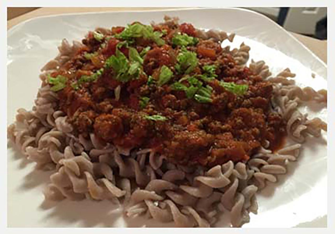 Marinara-Meat-sauce-with-Brown-Rice-Pasta
